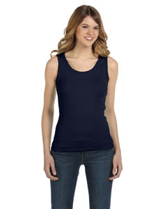 Navy Women's Combed Ringspun 2x1 Rib Tank Top