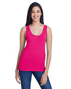 Hot Pink Ladies Stretch Tank