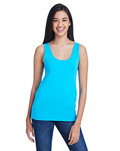 Caribbean Blue Ladies Stretch Tank