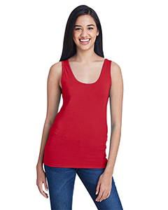Red Ladies Stretch Tank