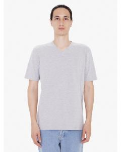 Heather Grey Unisex FINE JERSEY SHORT SLEEVE CLASSIC V-NECK