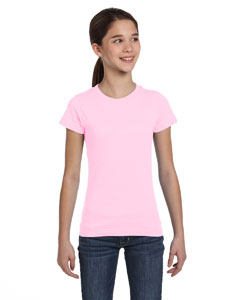 Pink Girls' Fine Jersey T-Shirt
