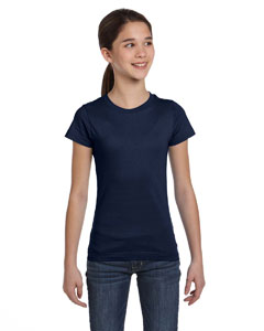 Navy Girls' Fine Jersey T-Shirt