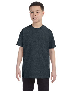 Black Heather Youth 5.6 oz., 50/50 Heavyweight Blend™ T-Shirt