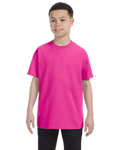 Cyber Pink Youth 5.6 oz., 50/50 Heavyweight Blend™ T-Shirt