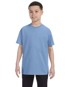 Light Blue Youth 5.6 oz., 50/50 Heavyweight Blend™ T-Shirt