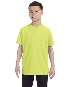 Safety Green Youth 5.6 oz., 50/50 Heavyweight Blend™ T-Shirt
