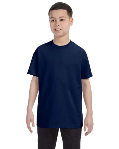 J Navy Youth 5.6 oz., 50/50 Heavyweight Blend™ T-Shirt