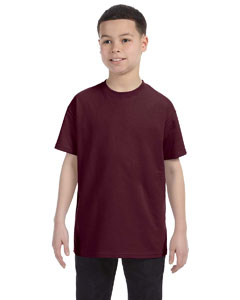 Maroon Youth 5.6 oz., 50/50 Heavyweight Blend™ T-Shirt