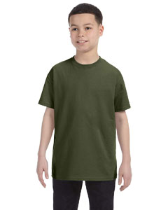 Military Green Youth 5.6 oz., 50/50 Heavyweight Blend™ T-Shirt