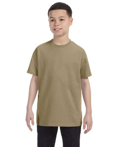 Khaki Youth 5.6 oz., 50/50 Heavyweight Blend™ T-Shirt