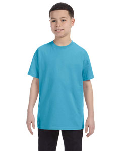 Aquatic Blue Youth 5.6 oz., 50/50 Heavyweight Blend™ T-Shirt