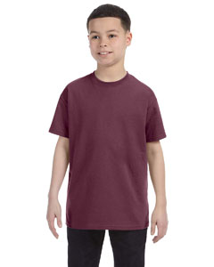 Vint Hth Maroon Youth 5.6 oz., 50/50 Heavyweight Blend™ T-Shirt
