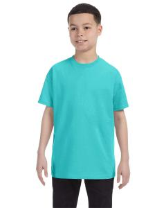 Scuba Blue Youth 5.6 oz., 50/50 Heavyweight Blend™ T-Shirt