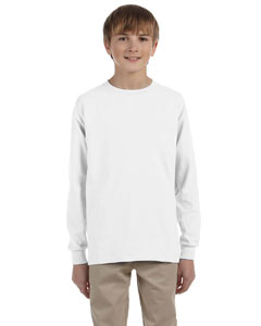 White Youth 5.6 oz., 50/50 Heavyweight Blend™ Long-Sleeve T-Shirt