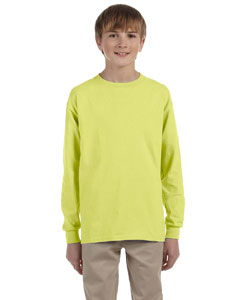 Safety Green Youth 5.6 oz., 50/50 Heavyweight Blend™ Long-Sleeve T-Shirt