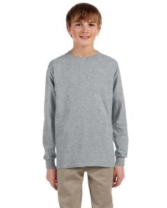 Athletic Heather Youth 5.6 oz., 50/50 Heavyweight Blend™ Long-Sleeve T-Shirt