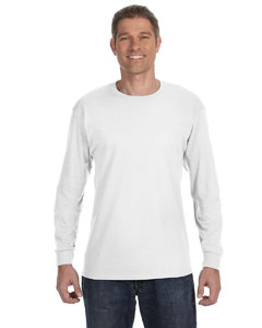White 5.6 oz., 50/50 Heavyweight Blend™ Long-Sleeve T-Shirt