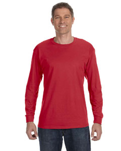 True Red 5.6 oz., 50/50 Heavyweight Blend™ Long-Sleeve T-Shirt