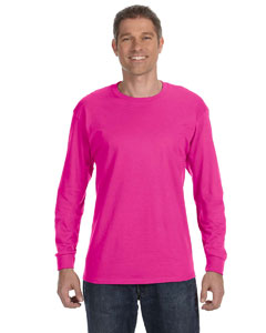 Cyber Pink 5.6 oz., 50/50 Heavyweight Blend™ Long-Sleeve T-Shirt