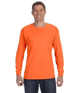 Safety Orange 5.6 oz., 50/50 Heavyweight Blend™ Long-Sleeve T-Shirt