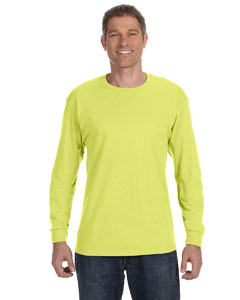 Safety Green 5.6 oz., 50/50 Heavyweight Blend™ Long-Sleeve T-Shirt