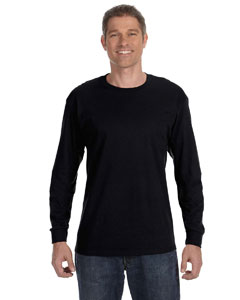 Black 5.6 oz., 50/50 Heavyweight Blend™ Long-Sleeve T-Shirt