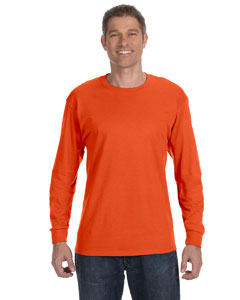 Burnt Orange 5.6 oz., 50/50 Heavyweight Blend™ Long-Sleeve T-Shirt