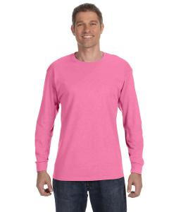 Neon Pink 5.6 oz., 50/50 Heavyweight Blend™ Long-Sleeve T-Shirt