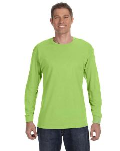 Neon Green 5.6 oz., 50/50 Heavyweight Blend™ Long-Sleeve T-Shirt