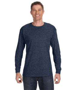 Vint Hthr Navy 5.6 oz., 50/50 Heavyweight Blend™ Long-Sleeve T-Shirt
