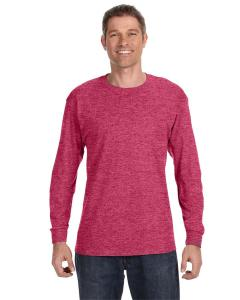 Vint Hthr Red 5.6 oz., 50/50 Heavyweight Blend™ Long-Sleeve T-Shirt