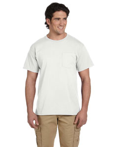 White Adult 5.6 oz. DRI-POWER® ACTIVE Pocket T-Shirt