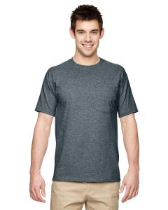 Black Heather Adult 5.6 oz. DRI-POWER® ACTIVE Pocket T-Shirt