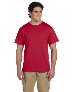 True Red 5.6 oz., 50/50 Heavyweight Blend™ Pocket T-Shirt