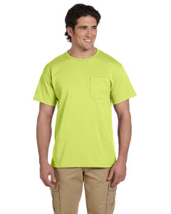 Safety Green 5.6 oz., 50/50 Heavyweight Blend™ Pocket T-Shirt