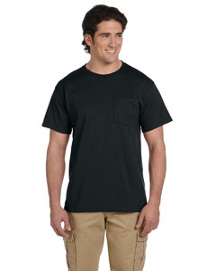 Black 5.6 oz., 50/50 Heavyweight Blend™ Pocket T-Shirt