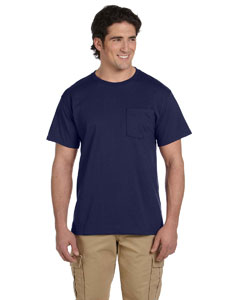 J Navy Adult 5.6 oz. DRI-POWER® ACTIVE Pocket T-Shirt