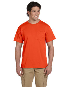 Burnt Orange 5.6 oz., 50/50 Heavyweight Blend™ Pocket T-Shirt
