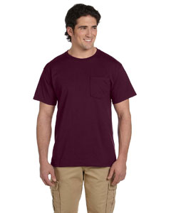 Maroon 5.6 oz., 50/50 Heavyweight Blend™ Pocket T-Shirt