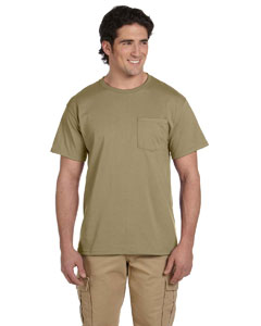 Khaki 5.6 oz., 50/50 Heavyweight Blend™ Pocket T-Shirt