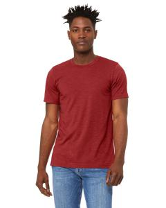 Hthr Canvas Red Unisex Heather CVC T-Shirt