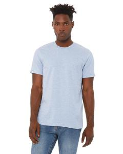 Hthr Prism Blue Unisex Heather CVC T-Shirt
