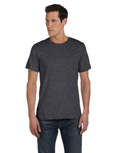 Dark Grey Heather Unisex Made in the USA Jersey Short-Sleeve T-Shirt