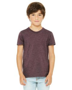 Heather Maroon Youth Jersey Short-Sleeve T-Shirt