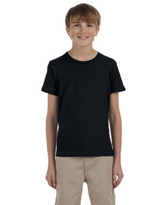 Black Youth Jersey Short-Sleeve T-Shirt