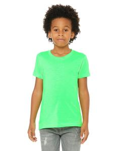Neon Green Youth Jersey Short-Sleeve T-Shirt