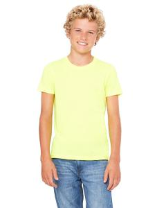 Neon Yellow Youth Jersey Short-Sleeve T-Shirt