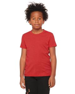 Heather Red Youth Jersey Short-Sleeve T-Shirt