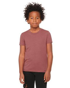 Heather Mauve Youth Jersey Short-Sleeve T-Shirt